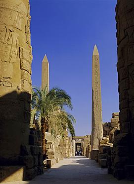 Obelisks of Hatshepsut, Karnak Temple, UNESCO World Heritage Site, near Luxor, Thebes, Egypt, North Africa, Africa