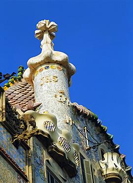 Casa Batllo by Gaudi, Barcelona, Catalonia, Spain