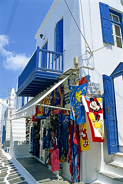 Tourist shop, Mykonos, Cyclades Islands, Greek Islands, Greece, Europe