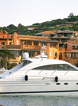 Yachts in the harbour, Porto Cervo, Costa Smeralda, island of Sardinia, Italy, Mediterranean, Europe
