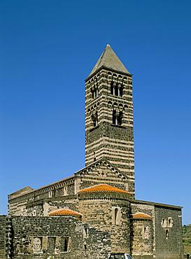 Basilica della S.S. Trinita di Saccargia, Assari, island of Sardinia, Italy, Europe