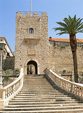 The Land Gate, Korcula Old Town, Korcula, Dalmatia, Croatia, Europe