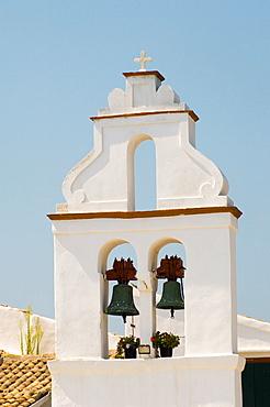 The belltower at the Vlaherna Monastery, Corfu Town, Corfu, Ionian Islands, Greek Islands, Greece, Europe