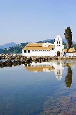 Vlaherna Monastery near Cofu Town, Corfu, Ionian Islands, Greek Islands, Greece, Europe