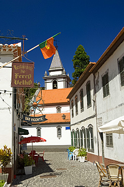 The picturesque town of Sao Vicente in central Madeira, Portugal, Europe