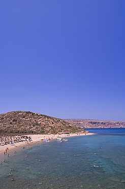 A view of the beach at Vai in Eastern Crete, Greek Islands, Greece, Europe