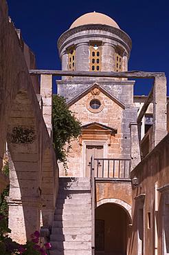 The Monastery of Ayia Triada of the Moutari on the Akrotiri Peninsula, sixteen kilometers from Hania on the north coast of Crete, Greek Islands, Greece, Europe