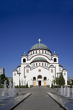 St. Sava Cathedral, the largest Orthodox cathedral in the world, Belgrade, Serbia, Europe