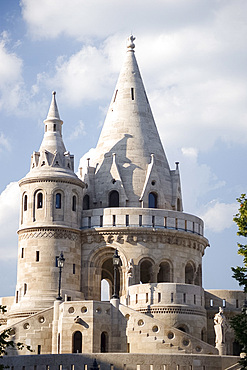 The newly restored Fishermen's Bastion, Budapest, Hungary, Europe