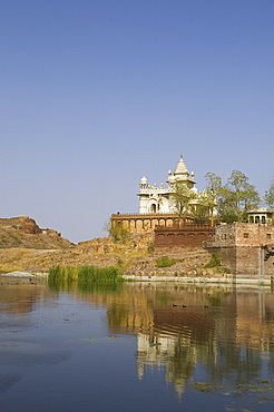 Jaswant Thanda, the pillared marble memorial to the popular ruler Jaswant Singh II, Jodhpur, Rajasthan, India, Asia