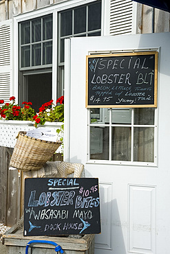 A deli selling seafood specialties in Sag Harbor, Long Island, New York State, United States of America, North America