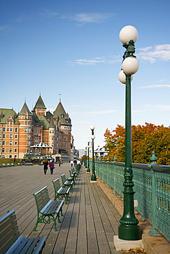 A view of the Chateau Frontenac, Quebec City, Quebec Province, Canada, North America