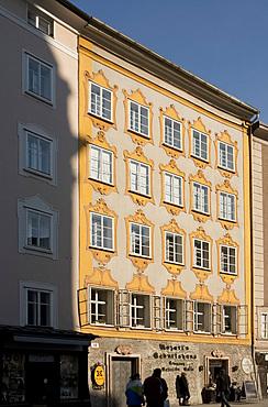 Mozart's birthplace in Salzburg, Austria, Europe