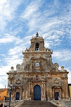 The Baroque Church of San Sebastian in Palazzolo Acreide, UNESCO World Heritage Site, Syracuse Province, Sicily, Italy, Europe