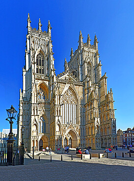 West Front of York Minster, York, Yorkshire, England, United Kingdom, Europe