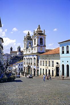 Salvador, the Pelourinho district at Largo do Pelourinho, Bahia State, Brazil, South America