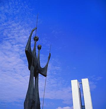Os Candangos Monument, Brasilia, Brazil