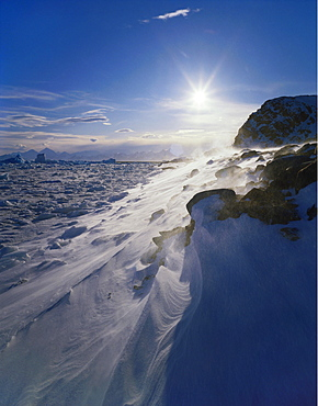 Snowdrifts at the Antarctic