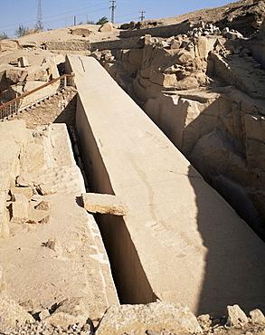 Unfinished obelisk, Aswan, Egypt, North Africa, Africa