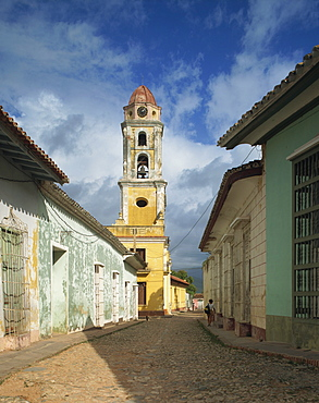 Tower of St. Francis of Assisi Convent and Church, Trinidad, UNESCO World Heritage Site, Cuba, West Indies, Central America