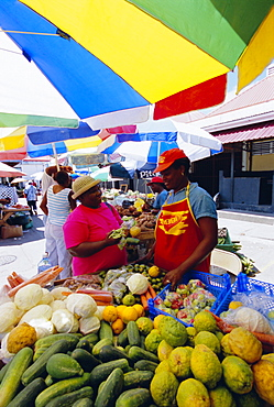 Market in the capital city of Castries, St. Lucia, Windward Islands, West Indies, Caribbean, Central America