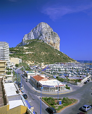 Elevated view, Calpe, Costa Blanca, Valencia, Spain, Europe