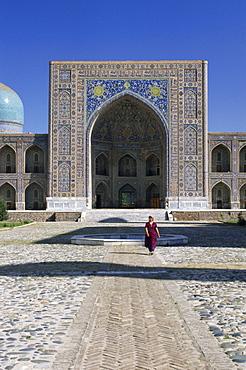Tilla Kari Madrasa (1646-1649), Registan, Samarkand, UNESCO World Heritage Site, Uzbekistan, CIS, Central Asia, Asia