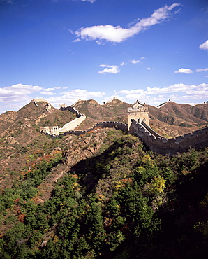 Jinshanling section, the Great Wall of China, UNESCO World Heritage Site, near Beijing, China, Asia