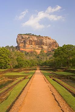 The rock fortress of Sigiriya (Lion Rock), UNESCO World Heritage Site, Sri Lanka, Asia