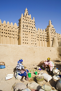 Djenne Mosque, the largest mud structure in the world, Djenne, UNESCO World Heritage Site, Niger Inland Delta, Mopti region, Mali, West Africa, Africa