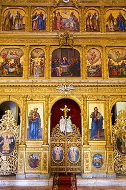 Praskvica Monastery, interior of the Serbian Orthodox Monastery, Pastrovici Hills near Sveti Stefan, Montenegro, Balkans, Europe - 252-11401