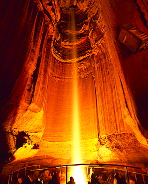 Ruby Falls, 145 ft waterfall deep inside Lookout Mountain, Chattanooga, Tennessee, United States of America, North America