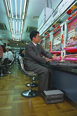 Playing game machine, pachinko parlour, Tokyo, Japan