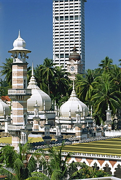 The Masjid Jamek (Friday Mosque) built in 1909 near Merdeka Square in the city of Kuala Lumpur, Malaysia, Southeast Asia, Asia