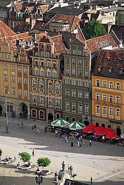 Town Square (Rynek), Wroclaw, Silesia, Poland, Europe