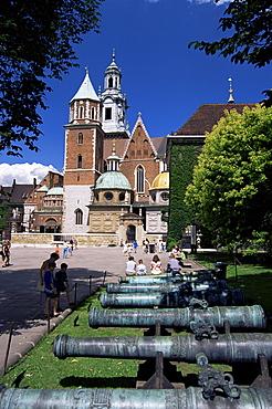Wawel cathedral and castle, Krakow, Makopolska, Poland, Europe