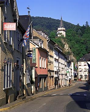 Main street, Vianden, Luxembourg, Europe
