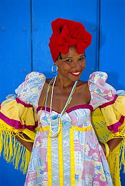 Cuban woman in La Habana Vieja, Havana, Cuba