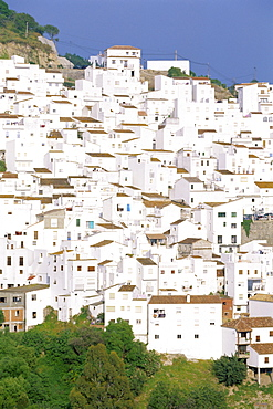 Casares, typical white town in Andalucia, Spain