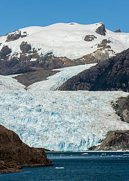 Asia Fjord and Brujo Glacier, Chilean Fjords, Chile, South America - 29-5593