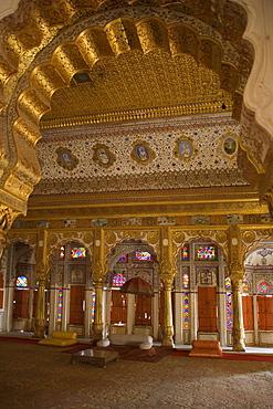Phul Mahal (Flower Palace), Meherangarh Fort, Jodhpur, Rajasthan, India, Asia