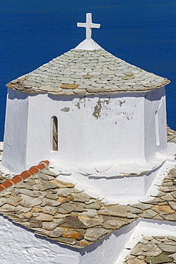 Evagelistria church, Skopelos, Sporades, Greek Islands, Greece, Europe