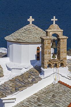 Agios Nikolaos and Panagitsa Pirgou churches, Skopelos, Sporades, Greek Islands, Greece, Europe