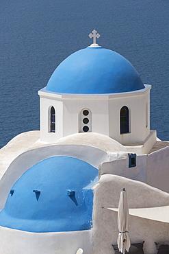 Church at Oia, Santorini, Cyclades, Greek Islands, Greece, Europe