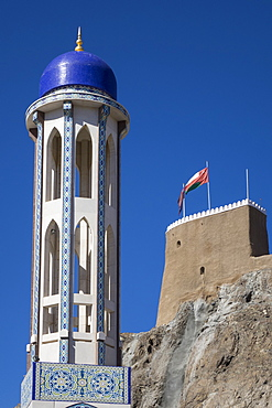 Mosque & Fort, Old Muscat, Oman, Middle East