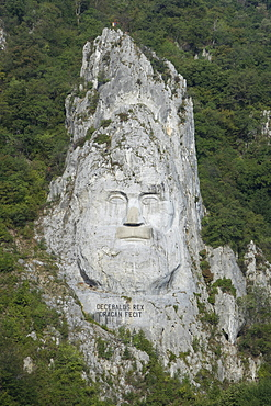 King Decabalus Rock Carving, Danube Gorge, Romania, Europe