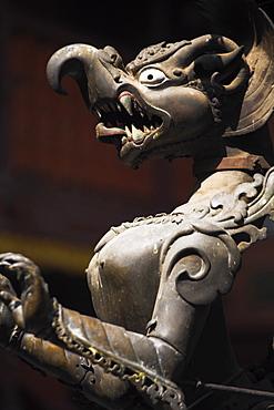 Religious statue at Golden Temple, (Hiranya Varna Mahavidar), Patan, Bagmati, Nepal, Asia
