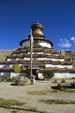 Kumbum stupa, Pelkor Chode monastery, Gyanze (Gyantse), Tibet, China, Asia