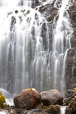Flowerdale Falls, a waterfall near the village of Gairloch, Torridon, Scotland, United Kingdom, Europe