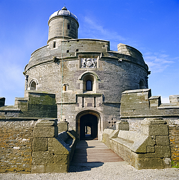 St Mawes Castle, built by King Henry VIII, Cornwall, England, UK